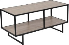 Midtown Collection Sonoma Oak Wood Grain Finish TV Stand with Black Metal Frame