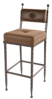 Forest Hill Iron Bar Stool with Padded Back