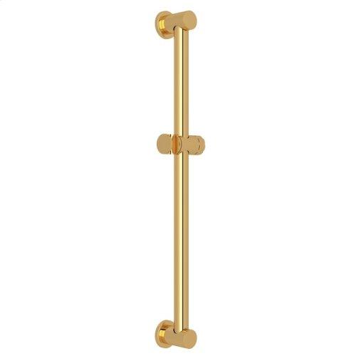 "Italian Brass 24"" Decorative Grab Bar With Knob Handle Slider"