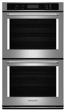 """30"""" Double Wall Oven with Even-Heat Thermal Bake/Broil - Stainless Steel"""