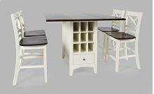 Asbury Park Counter Drop Leaf Table W/2 X Back Stools - White/autumn