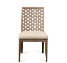 Mirabelle Block Back Upholstered Side Chair Ecru finish