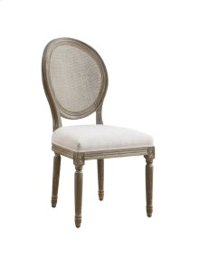 Emerald Home Salerno Side Chair W/uph Seat-rattan Back-sand Gray/distressed Finish-u3693-20-09