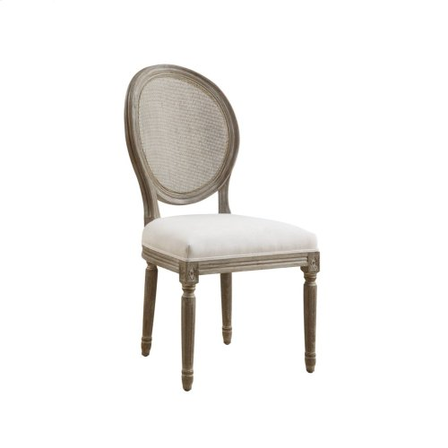 Emerald Home Salerno Side Chair W/uph Seat-rattan Back-sand Gray/distressed Finish-u3693-20-09 (copy)