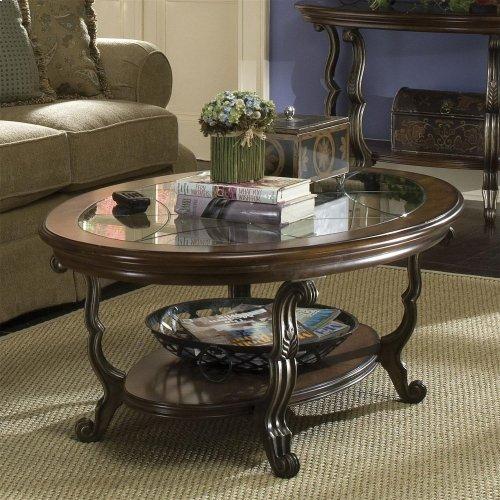 Ambrosia - Oval Coffee Table - Terra Sienna Finish