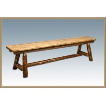 Glacier Country Log Plank Style Bench