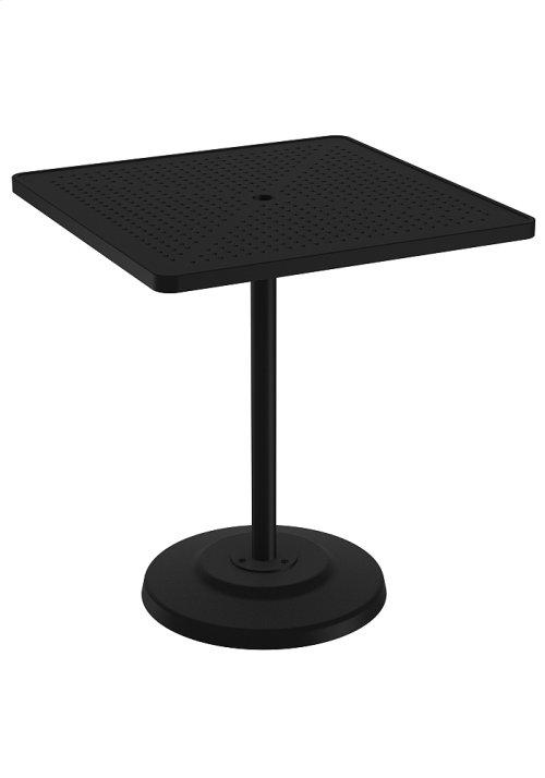 "Boulevard 36"" Square KD Pedestal Bar Umbrella Table"