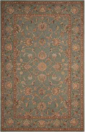 HERITAGE HALL HE15 AQU RECTANGLE RUG 2'6'' x 4'2''