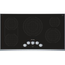 36-Inch Masterpiece® Knob Control Electric Cooktop, Black, Framed