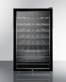 """ADA Compliant 20"""" Wide Freestanding Wine Cellar With Lock and Digital Thermostat"""