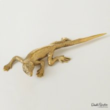 Lizard Letter Opener-Brass