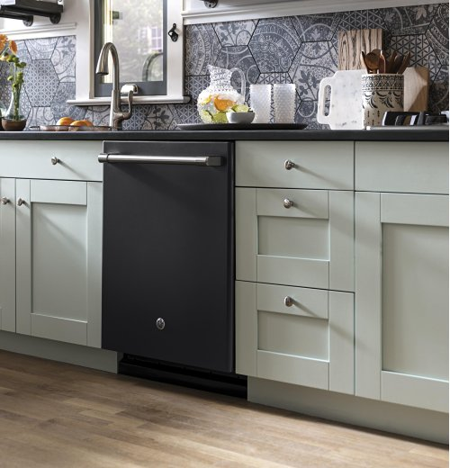 GE Cafe™ Series Stainless Interior Built-In Dishwasher with Hidden Controls