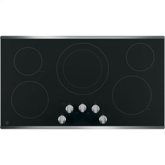 """GE 36"""" Radiant Electric Cooktop Stainless Steel JP3036SLSS"""