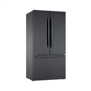 Bosch800 Series French Door Bottom Mount Refrigerator Black stainless steel