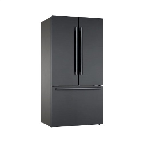 French Door Bottom Mount Black stainless steel