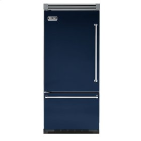 "Viking Blue 36"" Quiet Cool™ Bottom-Mount Refrigerator/Freezer - VIBB Tru-Flush™ (Left Hinge Door)"