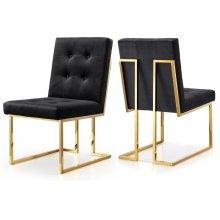 "Pierre Velvet Dining Chair - 19"" W x 25"" D x 36.5"" H"