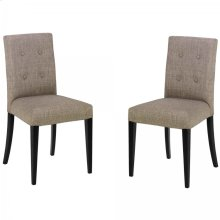 Wall St. Gray Fabric Side Chair (Set Of 2)