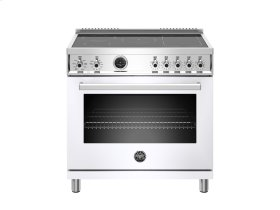 36 inch Induction Range, 5 Heating Zones, Electric Self-Clean Oven White