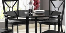 Diamond Black / Glass Table