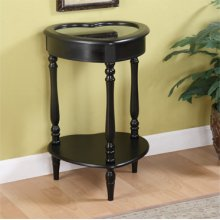 Black Heart Curio Table