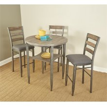 D312-25/37  Round Pub Height Table and 4 Stools