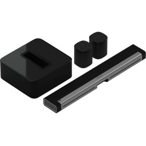 SonosBlack- 5.1 Surround Set with Playbar, One, and One SL