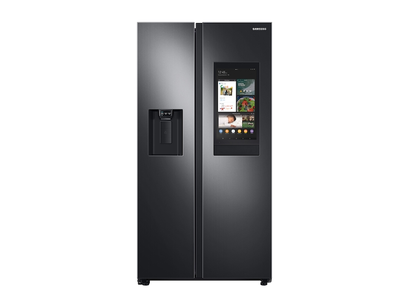Samsung22 Cu. Ft. Counter Depth Side-By-Side Refrigerator With Touch Screen Family Hub™ In Black Stainless Steel