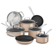Hard Anodized Non-Stick 11-Piece Set - Toffee Delight