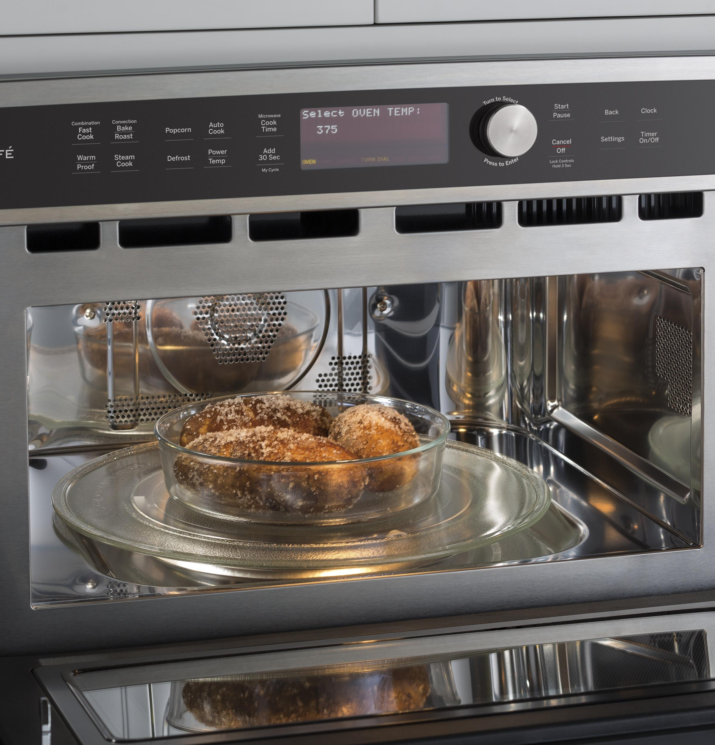 Ge Cafe 1 7 Cu Ft 975w Built In Convection Microwave Oven