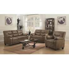 Meagan Casual Brown Two-piece Living Room Set