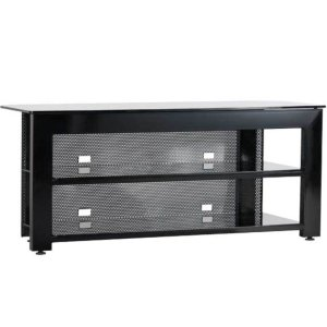 SanusBlack Widescreen TV/AV Stand Rigid strength and contemporary design in an affordable package