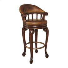 MAHOGANY SWIVEL COUNTER STOOL