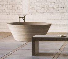 Siena Tazza Bathtub Siena Silver Gray Marble
