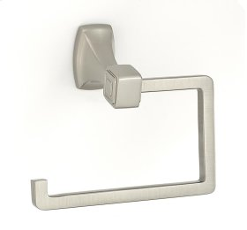 Cube Single Post Tissue Holder A6566 - Satin Nickel