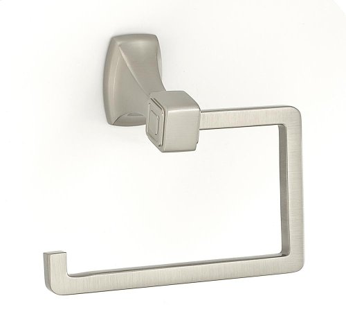 Cube Single Post Tissue Holder A6566 - Satin Nickel