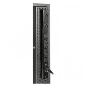 Vertex, 8 Outlets (3 Wall Wart Spaced) Vertical Power Distribution -