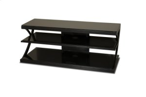 "48"" Wide Stand - Black Glass Top and Shelves - Accommodates Most 52"" and Smaller Flat Panels - No Tools Required"