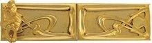 Double Door Rim Lock Art Nouveau Style