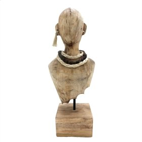Mango Wood Bust W/ Jewelry