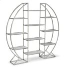 Hoop Etagere In Polished Stainless Steel Product Image