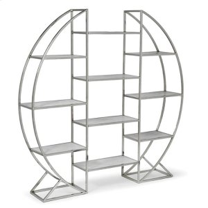 Regina AndrewHoop Etagere In Polished Stainless Steel