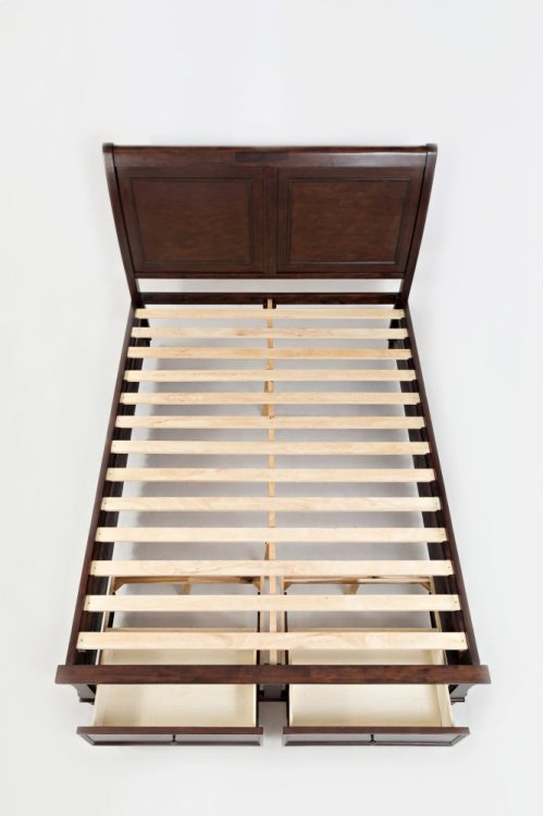 Avignon Birch Cherry Queen Storage Bed
