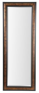 25X65 Metallic Gold with Black Framed Mirror Product Image