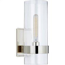 Visual Comfort S2166PN-CG Ian K. Fowler Presidio 1 Light 6 inch Polished Nickel Sconce Wall Light, Small