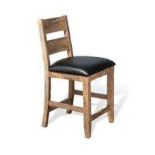 "24""H Puebla Ladderback Barstool w/ Cushion Seat"