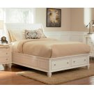 Sandy Beach White Queen Sleigh Bed With Footboard Storage Product Image
