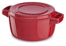 Professional Cast Iron 4-Quart Casserole - Empire Red