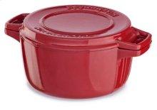 Professional Cast Iron 4-Quart Casserole - Empire Red