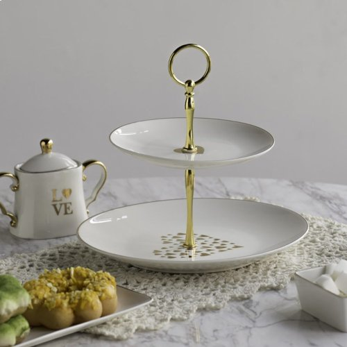 Two-Tier Dessert Plate